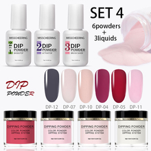 Lamemoria 3/6/9pcs Sparkling Dipping Nail Powder Set Nude Series Nail