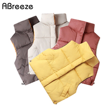 2020 Autumn Winter Children Vests Coats 2-8 Year Warm waistcoats for Boys & Girls Color Red Yellow Little Child Vests Unisex