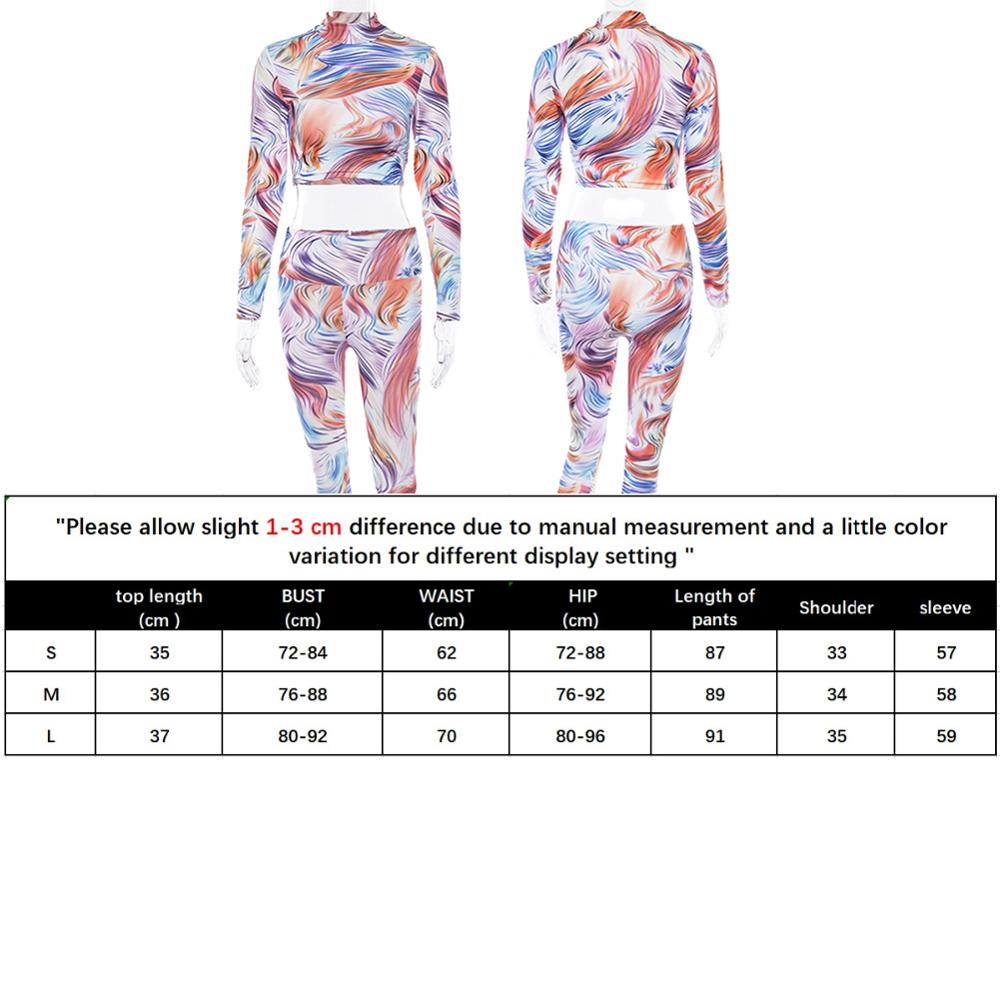 2019 Yoga Women Set Gym Clothes Print Seamless Leggings Make Blouses Workout Sport Suit Women Long Sleeve Fitness Wear Set in Yoga Sets from Sports Entertainment