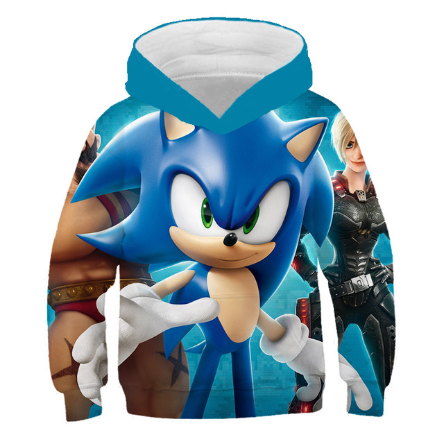 Kids Kawaii Anime Super Sonic Print Baby 3d Hoodies Cartoon The Hedgehog Sweatshirt Boys Children Long Sleeve Coat 2020 New Hoodies Sweatshirts Aliexpress