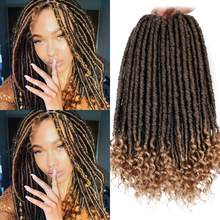 Goddess Faux Locs Crochet Hair Synthetic Braiding Hair Extension Barato Passion Twist Ombre Women's Hair Smart Braid(China)