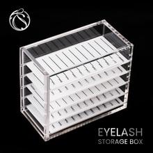 Acrylic Eyelash Storage Box Grafting Extension 5 Layers Display Container Eyelashes Pallet Holder