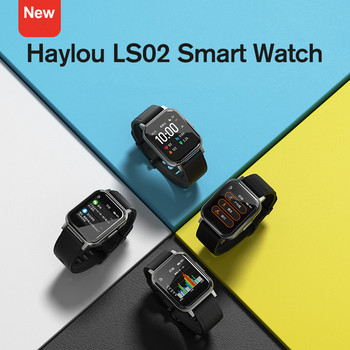 New Haylou LS02 English Version Smart Watch, IP68 Waterproof ,12 Sport Modes,Call Reminder, Bluetooth 5.0 Smart Band