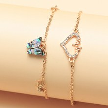 2Pcs/Set Fashion Cute Butterfly Anklets for Women Gold Color Chain Ankle Bracelet on the Leg 2020 Bohemian Foot Jewelry(China)