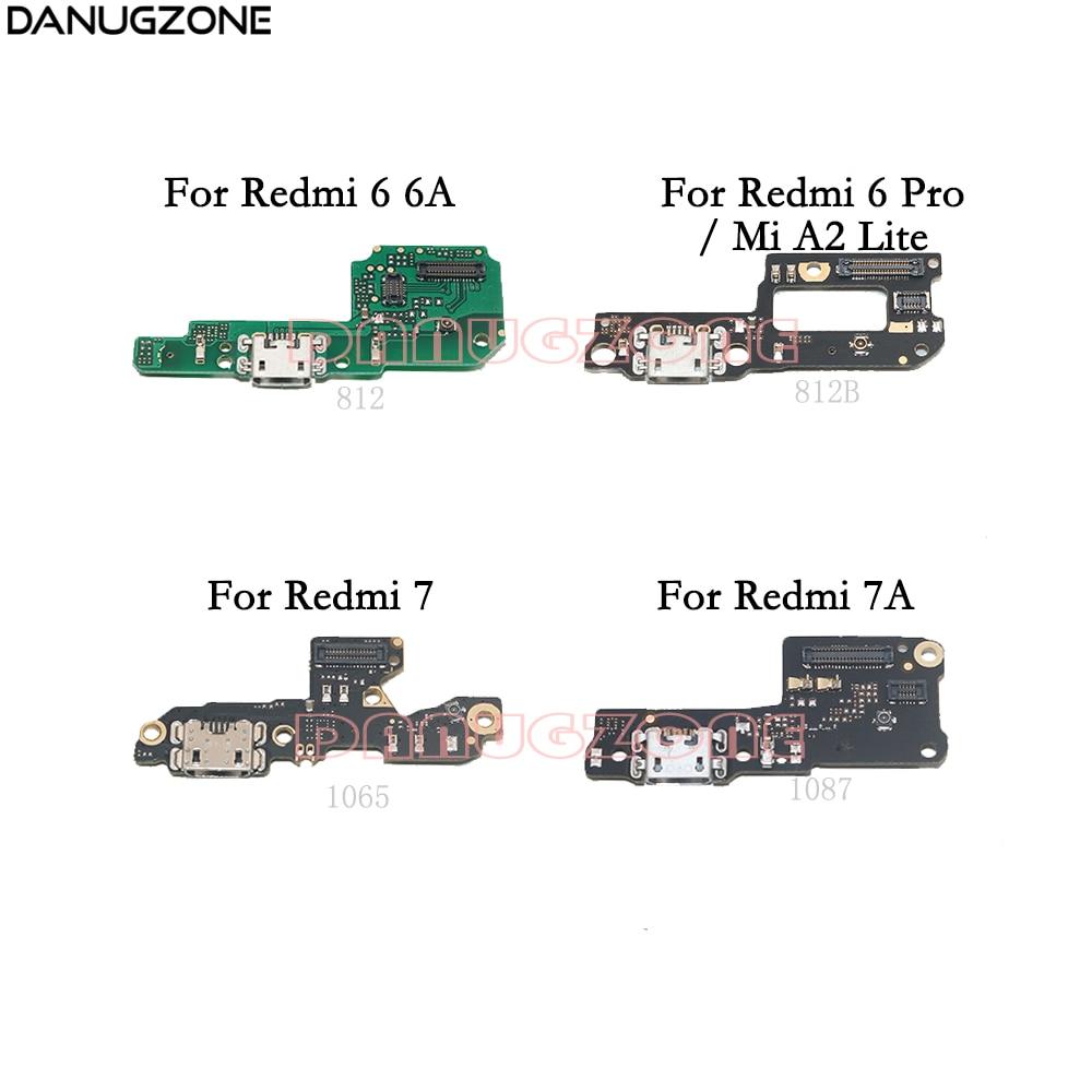 USB Charging Dock Port Socket Jack Plug Connector Charge Board Flex Cable For Xiaomi Redmi 6 6A 7 7A / Redmi 6 PRO / Mi A2 Lite
