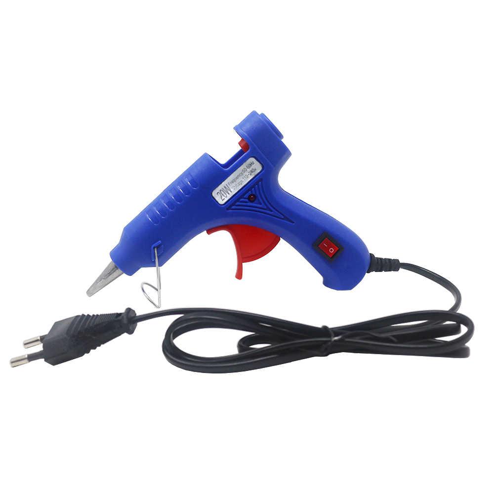 Hot Melt กาวปืน 110V 220V 20W 30W 7 มม.* 100 มม.กาว Stick EU US ประเภทกาวปืน Thermo ไฟฟ้าความร้อนซ่อมเครื่องมือ