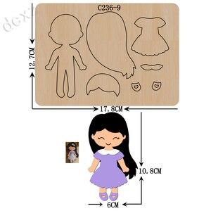 Image 1 - Matrices de découpe en bois pour filles Scrapbooking, compatibles avec la plupart des machines de découpe, nouvelle collection C 236 9