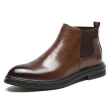 Male calf boots handsome male pro denim riding simple popular