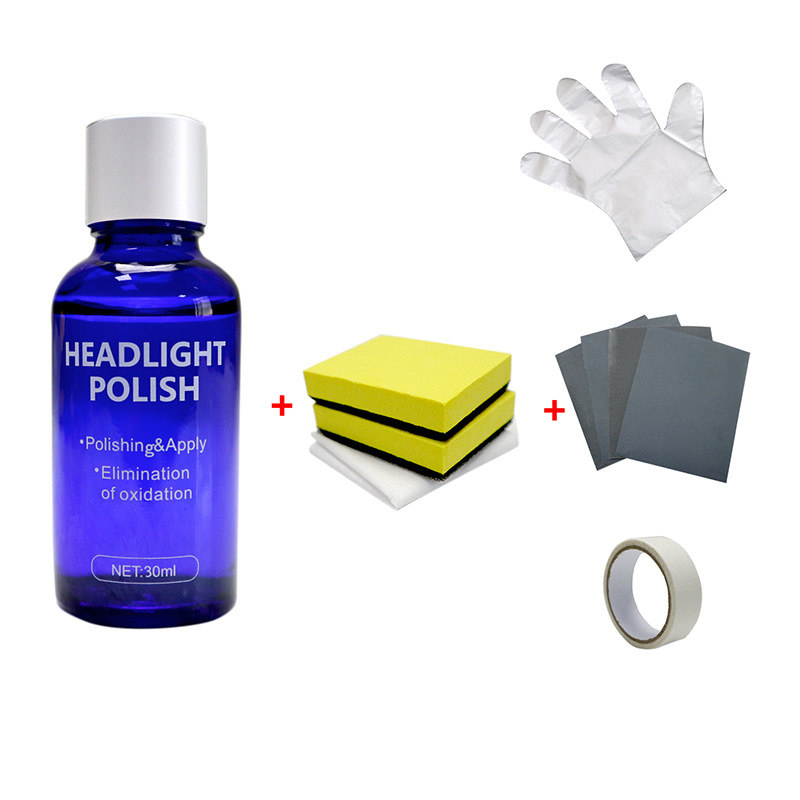 30ML Car Headlight Repair Coating Solution Repair Kit Oxidation Rearview Coating Headlight Polishing Anti-scratch Liquid