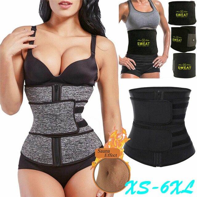 2019 New Women Waist Trainer Neoprene Belt Sauna Sweat Body Shaper Tummy Control Slim Waist Trainer Cincher Trimmer Sweat Belt 1
