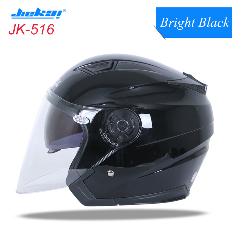 JIEKAI Motorcycle Helmet Half Face Capacete Pare Motocicleta Racing/Bicycle Helmets Dual Lens Motocross Off Road Casco Men Women