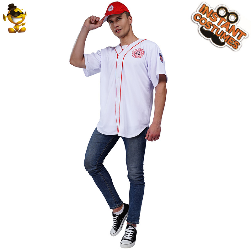 Christmas Adult Baseball Costume Cosplay Man Play Game Baseball Top with Hat Costumes