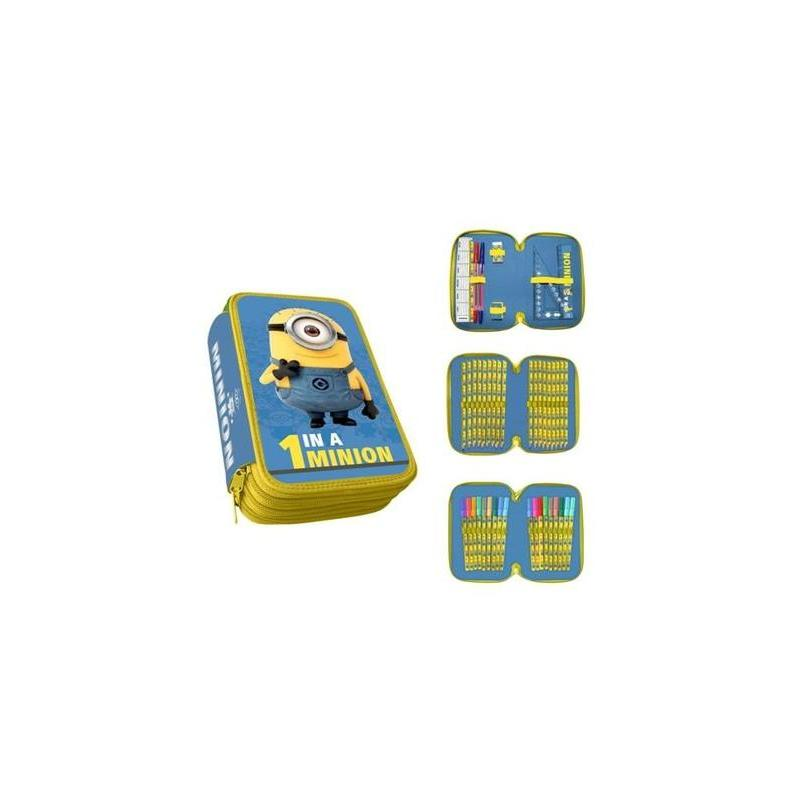 Plumier Minion 3 Zippers Toy Store Articles Created Handbook
