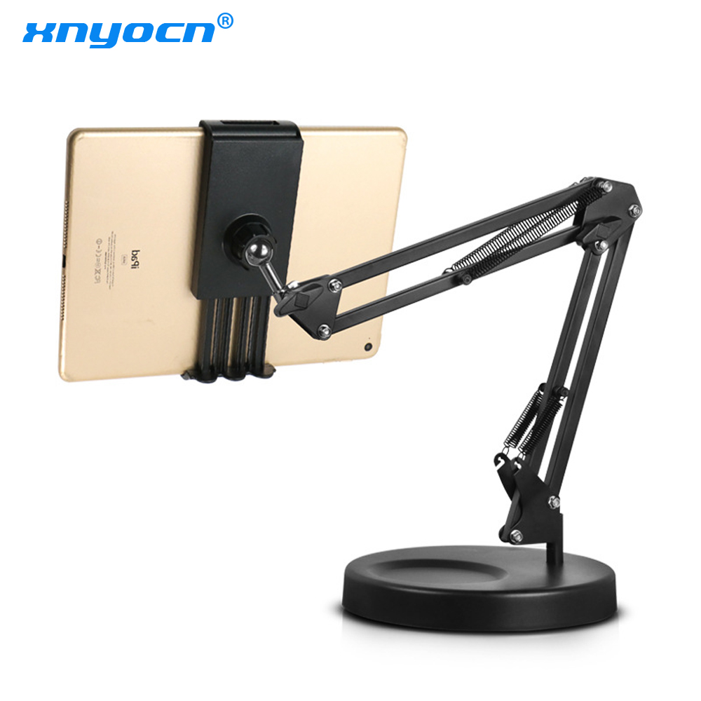 Foldable Long Arm Tablet Stand Holder Desktop Mobile Phone Support Bracket 360 Degree Lazy Mount For Recording Video Makeup Live