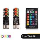 2PCS W5W T10 RGB Cle...