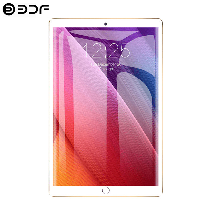 10.1 Inch Tablet PC 3G/4G Phone Call 6GB/128GB Android 8.0 Octa Core Dual SIM Wi-Fi Bluetooth Support GPS Tablet PC (Red)