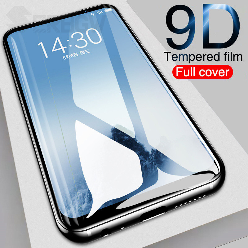 9D Tempered Glass On The For Meizu X8 V8 M8 M8C M8 Lite 16 16T 16TH 16X 16S 16XS Note 8 9 Full Screen Protector Protective Film