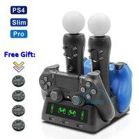 Neueste PS4 PS Bewegen VR PSVR Joystick Gamepad Ladegerät Stehen Dual Controller Lade Dock für PS VR Bewegen PS 4 spiele Zubehör