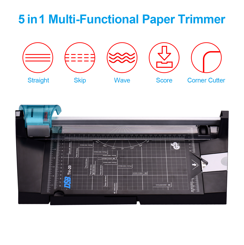 Триммер для бумаги DSB 5 в 1, многофункциональный фоторезак для бумаги A4, Прямой Угловой резак с резкой волны и длиной резки 12 дюймов