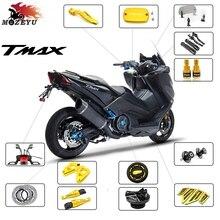For YAMAHA T-MAX tmax 500/530 T-MAX 530 SX/DX 01-19 CNC Motorcycle Handbar end T-MAX 500 530 Brake clutch Fluid Reservoir Cap cnc adjustable motorcycle brake clutch levers for yamaha tmax 500 tmax 530 t max500 t max530 t max 500 530