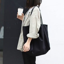 Novo designer de luxo bolsa grande capacidade estilo minimalista senhoras bolsa de ombro casual bolsa de lona cor sólida sacola grande