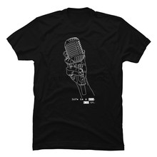 Life Is Song Sing It Microphone T-shirts Lates Casual Tops Shirts for Men Custom Wholesale Men's Cotton T Shirt Drop Shipping(China)