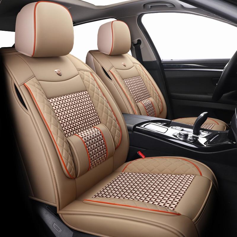 Neue Leder & eis seide auto sitzbezüge Für Hyundai elantra 2012 2013 2017 getz i20 i30 2013 i40 ix 25