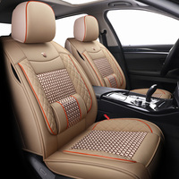 New Leather&ice silk car seat covers For Audi a3 sedan a4 b5 avant b6 avant a4 b7 avant a4 b8 avant a5 s3