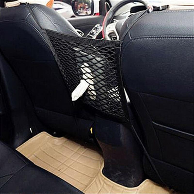 Car Interior Parts Accessories Seat Storage Mesh Net Bag Strong Nylon Pocket Pouch Holder Vehicle Auto Hanging Organizer