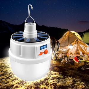 Solar Power Bulb Light 24/42 LED Solar Light USB Charging Bulb Lamp Waterproof Lighting For Camping Home Garden With 5 Modes(China)