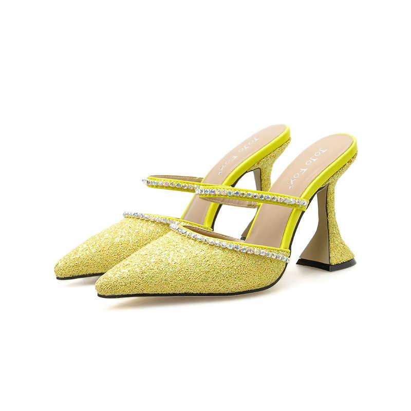 Zapatos De Tacon Elegantes Para Mujer Vàng Giày Giải Trí Nữ Bơm Blingbling Bạc Giày Cao Gót Gợi Cảm Giày Nữ