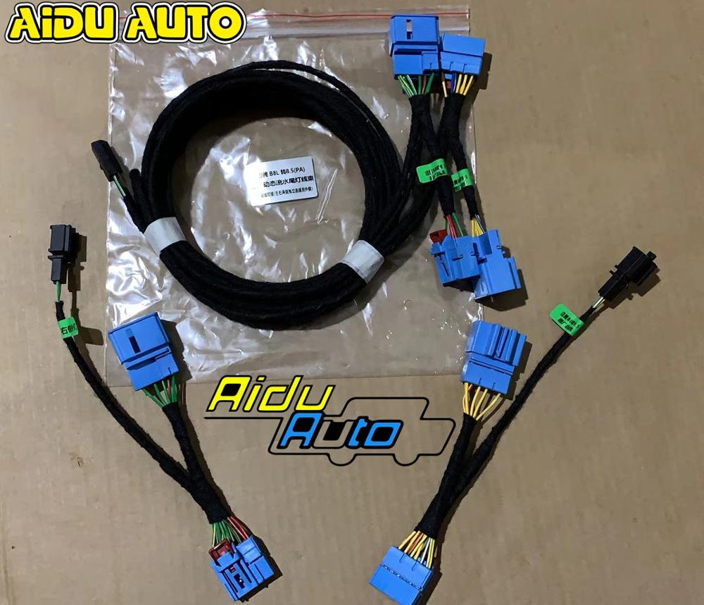 For VW Passat B8 Install Facelift Flowing Water LED Dynamic Sequential Taillight Cable Wire Harness Adapter