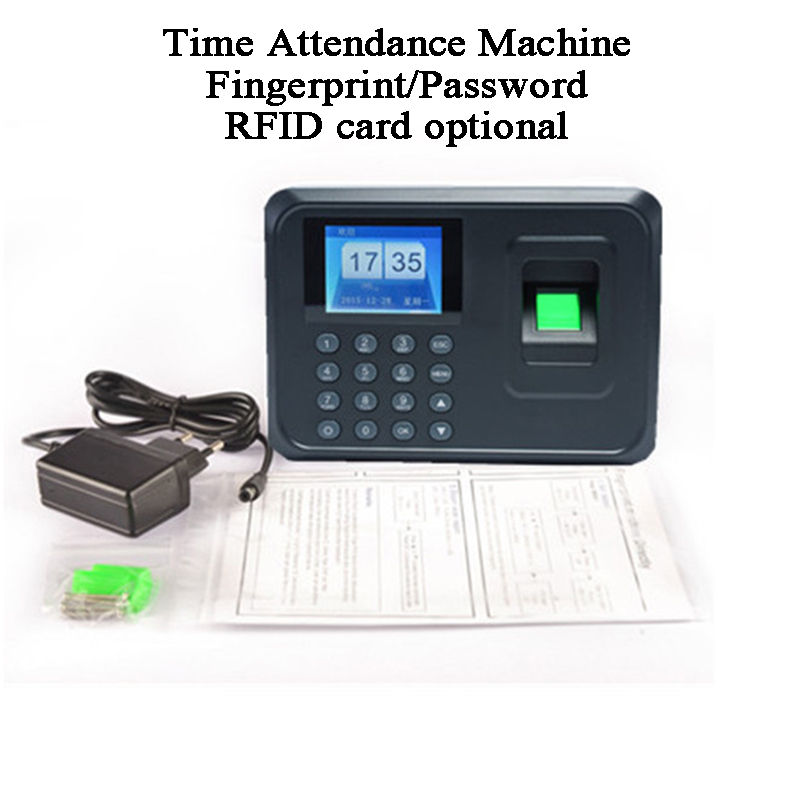 Biometric Fingerprint Office Employee Time Attendance Machine Code Password DC5V USB U Disk RFID Card