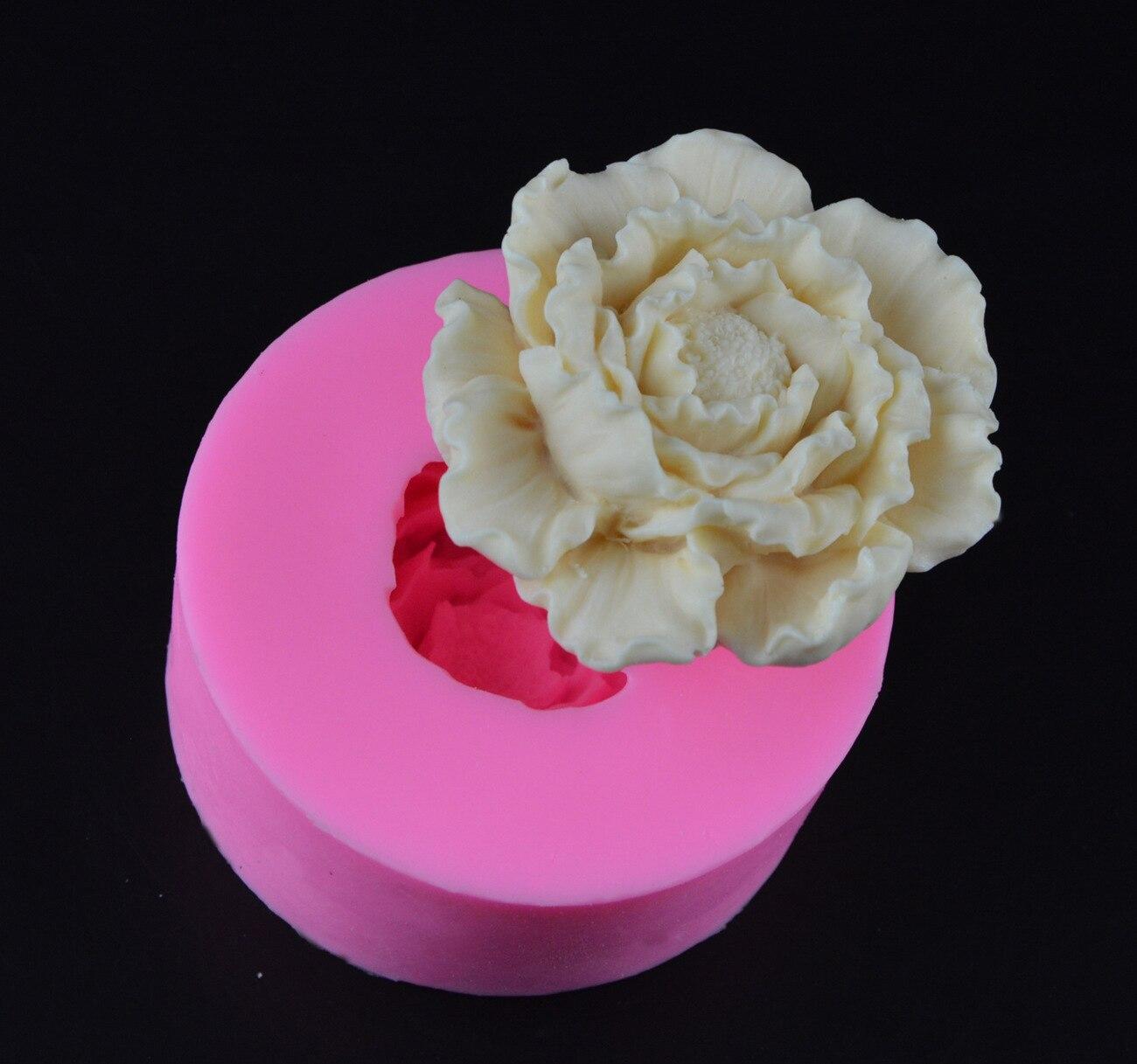 3D форма пиона силиконовые формы для помады цветы мыло ручной работы свечная глина Fimo формы для выпечки торта инструменты для свадебного декора H600|Формы для тортов|   | АлиЭкспресс