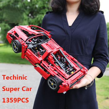 1359PCS Racing Car Model Set Building Blocks Technic Series Compatible DIY Blocks Toys For Children Car Bricks Christmas Gift lepin 05062 1359pcs series the imperial super star destroyer set building blocks bricks compatible with 75055 boy toy