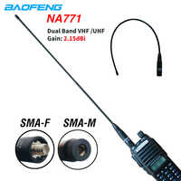 Baofeng NA-771 Antenna SMA-F SMA-M Dual Band Antenna Flexible VHF/UHF 144/430MHz for Radio Kenwood UV-5R UV-82 BF-888S UV82hp