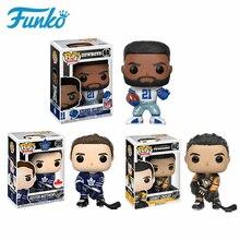 Funko hokey yıldızı NHL Sidney Crosby Auston Matthews Rugby yıldız Ezekiel vinil aksiyon figürü oyuncakları doğum günü hediyesi koleksiyon Model