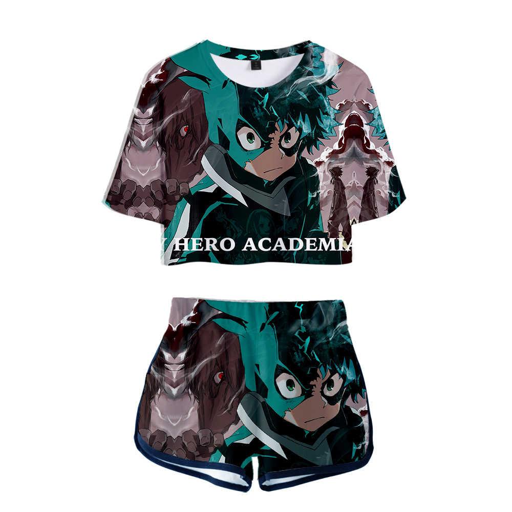 Details about  /My Hero AcademiaToyoura Taishirou Cosplay Women Summer 3D Print Crop Top Shorts