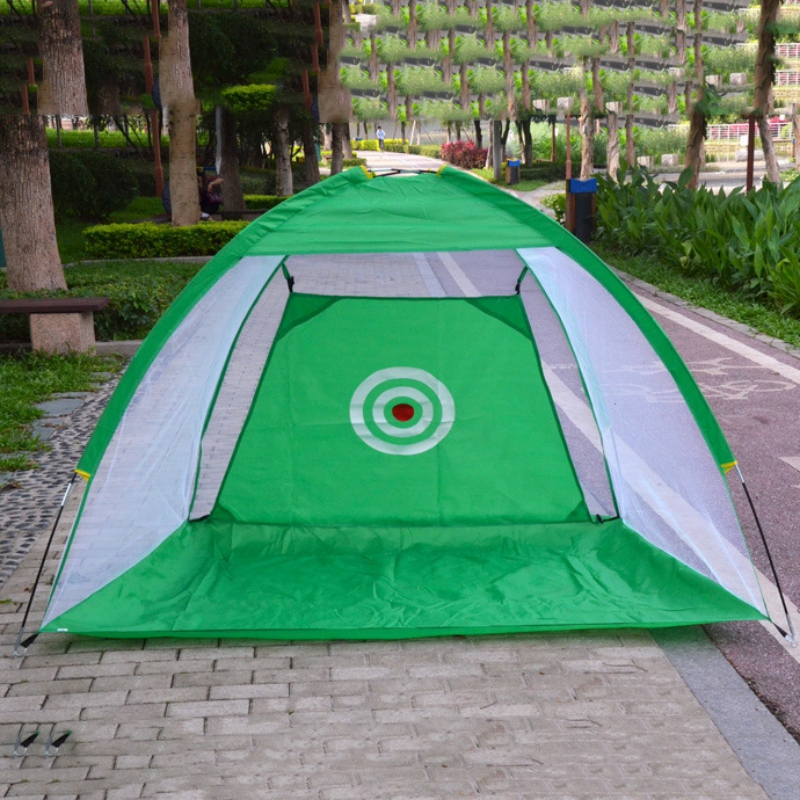 Outdoor Indoor Foldable Golf Hitting Cage Swing Hitting Target  Trainer Chipping Net For Backyard Garden Grassland