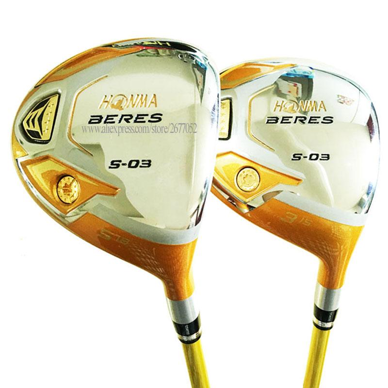 New Golf Clubs HONMA S-03 4Star Golf Fairway Wood  3/5 wood Graphite shaft R or S Flex Golf wood headcover Cooyute Free shipping