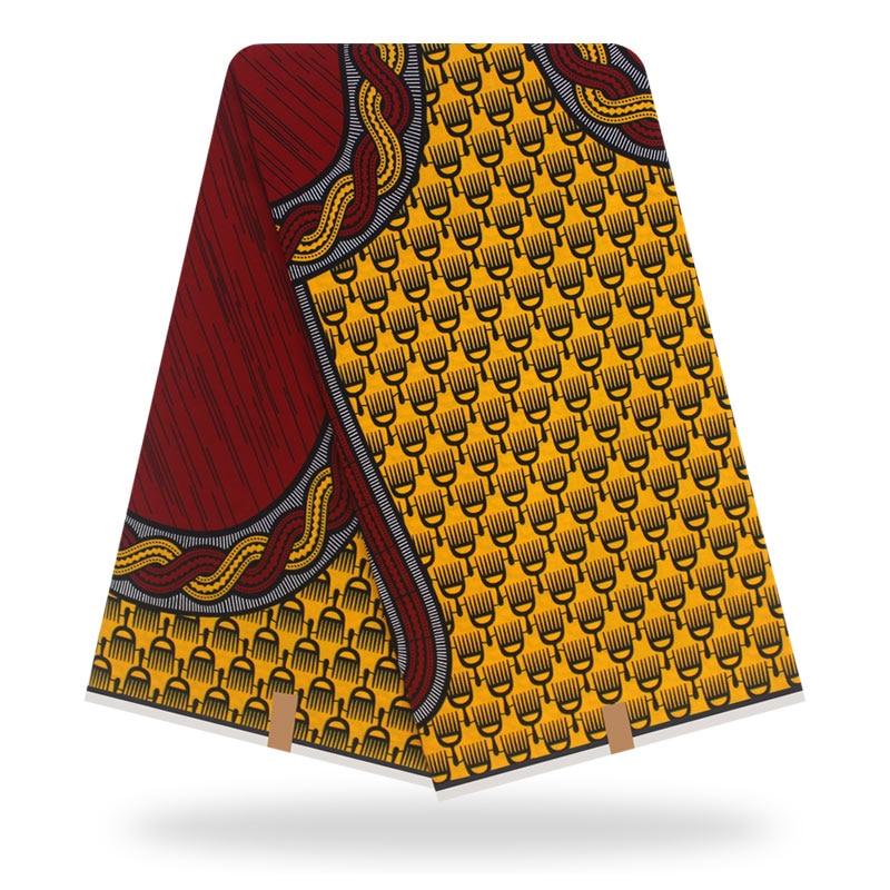 Original Veritable Wax Tissus Guaranteed Real Dutch Wax 6yard/lot 2019 100% Cotton Tissus Wax High Quality African Fabric Print