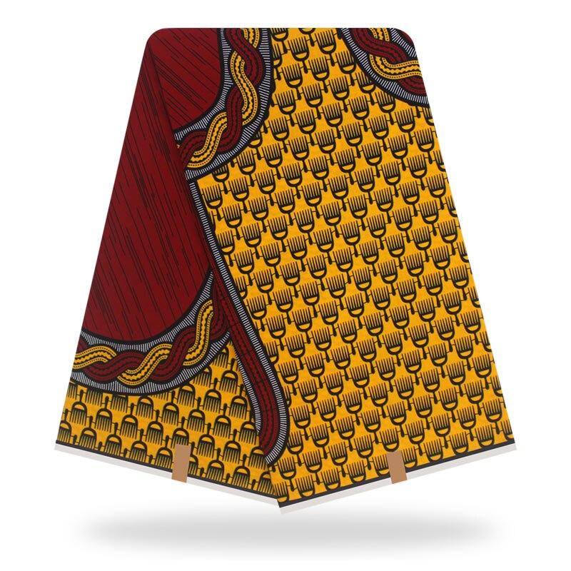 Original  Wax Tissus  Real Wax 6yard/lot 2019 100% Cotton Tissus Wax High Quality African Fabric Print