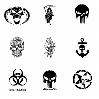 10 Styles Hot Sale Skull Car Sticker Funny Wrap Vinyl Car-Styling Auto Stickers And Decals Cars Decoration Accessories car stickers funny peeking monster auto car walls windows sticker graphic vinyl cars decals car styling accessories