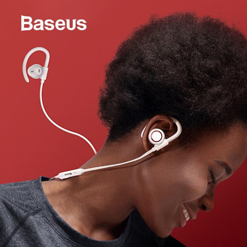 Baseus S17 stéréo Bluetooth écouteur Anti-perte d'oreille crochet IPX5 étanche Sport sans fil écouteur avec adsorption magnétique
