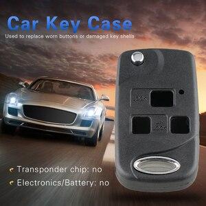 3 Button Uncut Blade Flip Refitting Car Key Case Replace Worn Buttons or Damaged Key Case for Lexus IS 200 GS 300 LS 400 RX 300