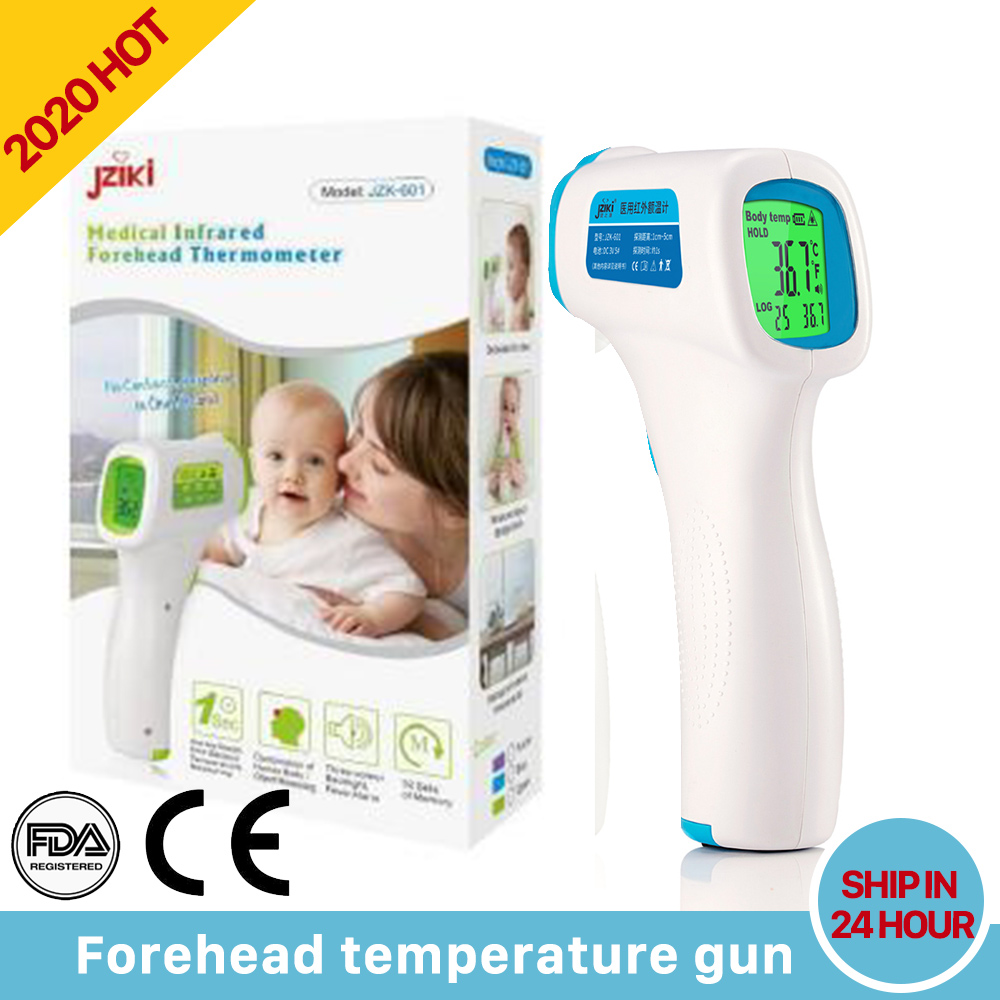 Digital Thermometer Forehead Temperature Gun Baby Adult Laser Infared Thermometer Body LCD Display Temp Tester Point Gun