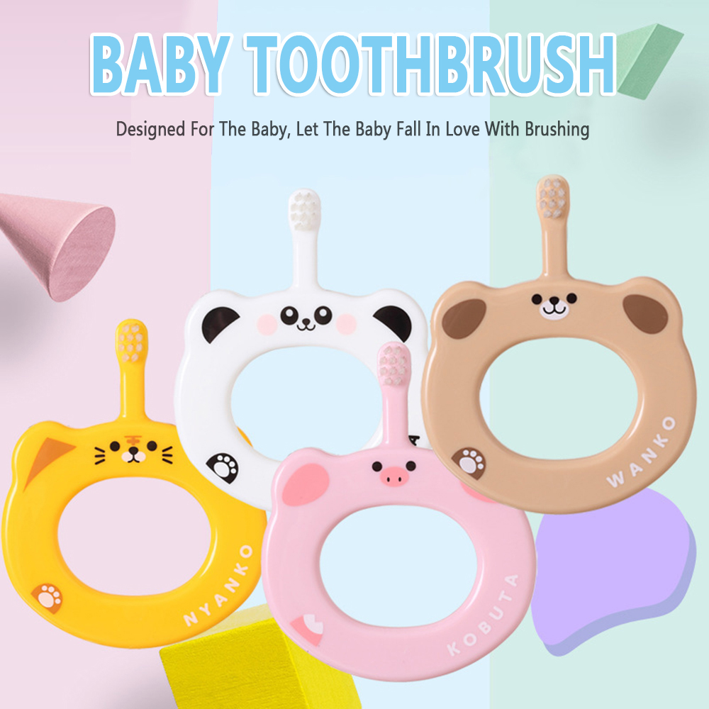 Anti Slip Handle Children Cartoon Toothbrush Baby Soft Bristles Toothbrush Kids Training Toothbrush For Toddler Children Chewing