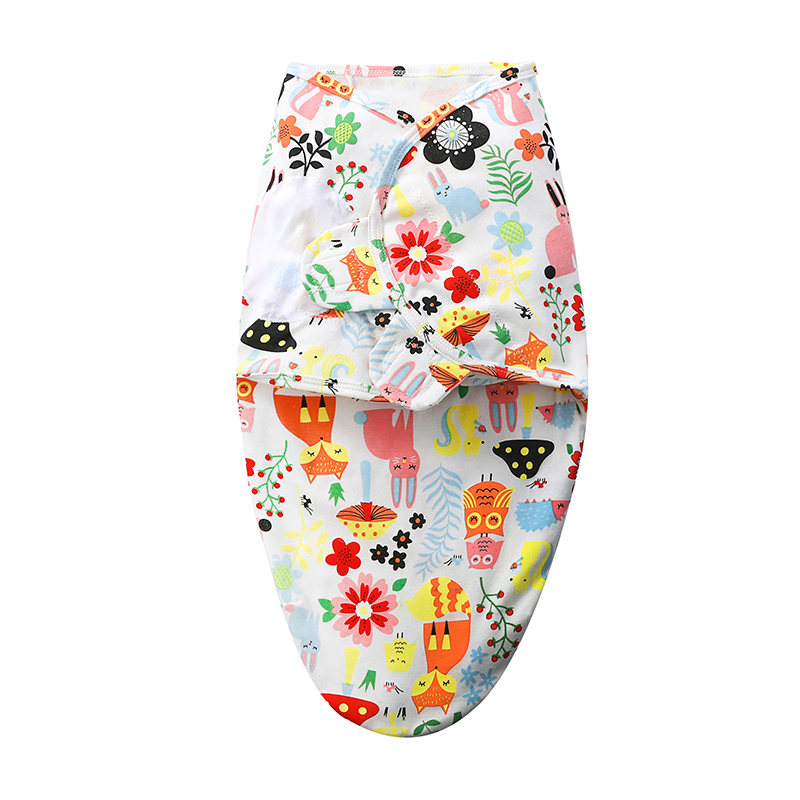 Newborn Baby Sleeping Bag Spring Summer Wrap Envelope Cocoon 100% Cotton New Born Blanket Swaddling