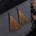 Элегантные ретро винтажные этнические красочные треугольные рыболовные крючки с ниткой подвесные висячие серьги для женщин и девочек аксе...