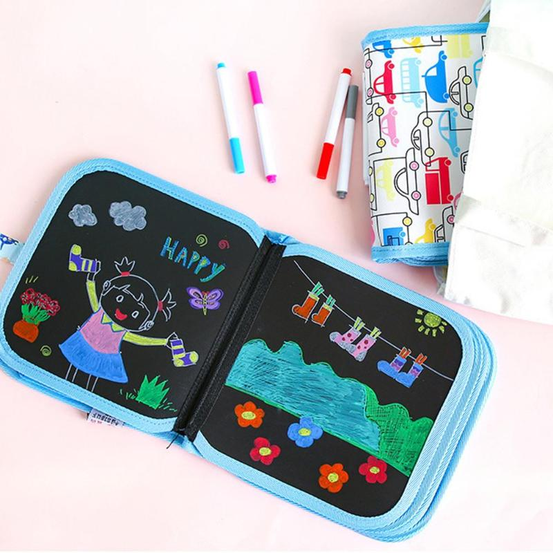Simplicity Security Children Drawing Pad Superb Craftsmanship Portable Erasable Sketchbook 14-Page Writing Boards